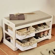 wooden shoe rack storage organizer u0026 hallway bench living room