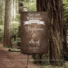forest wedding invitations printable wedding welcome sign rustic woodland welcome sign