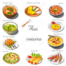 collection cuisine cuisine set collection of food dishes for the decoration
