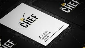 Business Cards Ideas For Graphic Designers 25 Business Cards For Chefs Free U0026 Premium Templates