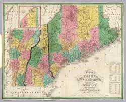 State Of Vermont Map by Maine New Hampshire Vermont David Rumsey Historical Map