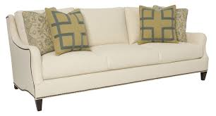 Living Room Furniture Reviews by Furniture White Bernhardt Sofa With Decorative Cushions For