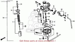 honda xl185s 1982 c usa carburetor schematic partsfiche