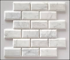 white beveled subway tile with grey grout tiles home design