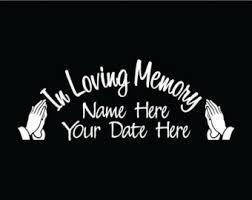 In Loving Memory Dog Tags In Loving Memory Dog Tags Praying Hands Window Sticker Car