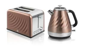 Kettle Toaster Offers Swan Copper Twist Kitchen Set Groupon