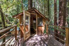 treehouse homes for sale the inside of this tiny creekside cabin is as beautiful as the
