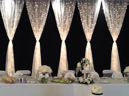 Curtain Draping Ideas Fairy Light Curtain More Weddings