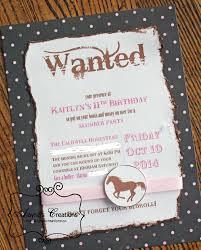 cowgirl birthday party invitations u2013 gangcraft net