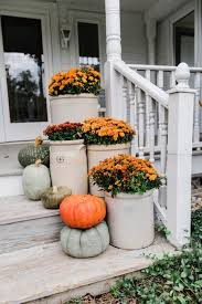 Fall Decorated Porches - crocks u0026 mums farmhouse fall steps porch cozy and autumn