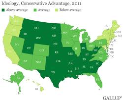Gallup New Mexico Map by Red America Vs Blue America State Maps Illustrate The Difference
