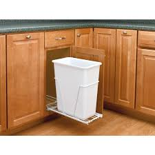 under cabinet trash can trash cans under cabinet pull out trash
