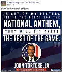 John Bench John Tortorella Says He U0027ll Bench Any Player Who Doesn U0027t Stand For