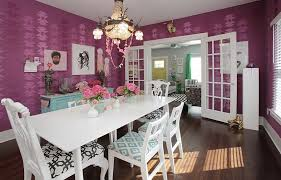 How To Fashion A Sumptuous Dining Room Using Majestic Purple - Purple dining room