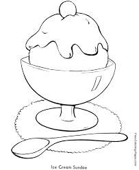 summer coloring pages ice cream sundae 13