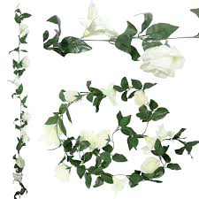 rose and lily flower garland artificial fake flowers vine ivy