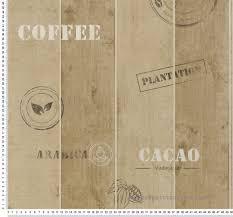 papier peint cuisine papier peint planches cacao marron as création chambre cuisine