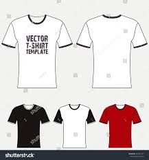 tshirt blank design template front back stock vector 281941271