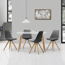 Esszimmertisch In Grau En Casa Esstisch Eiche Dunkel Mit 6 Stühlen 180x100 Tisch Stühle