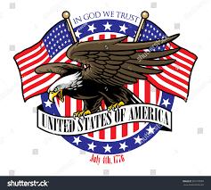Flag Com Eagle Grip Usa Ribbon Sign Flag Stock Vektorgrafik 291579998