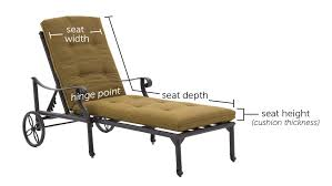 Thick Chaise Lounge Cushions How To Measure Outdoor Replacement Cushions Ultimate Patio