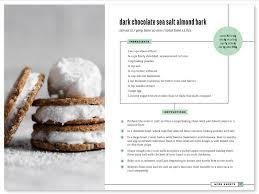cookbook format template expin memberpro co