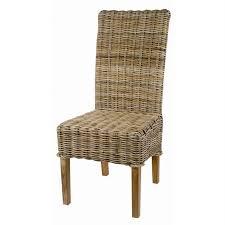 chaise en kubu tressé galette lot de 2 achat vente chaise
