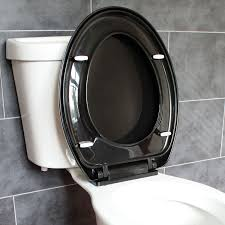 black toilet bathroom soft close black oval toilet seat adjustable top bottom