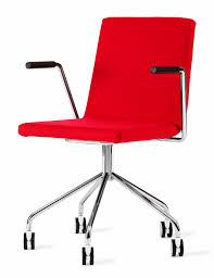 contemporary chair on casters star base fabric afternoon