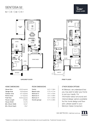 sentosa 52 by metricon price floorplans facades display