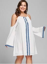 shift dress cold shoulder plus size shift dress white plus size dresses 5xl zaful