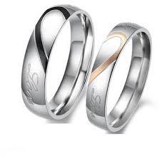 wedding ring dubai buy titanium wedding band ring set mm111 rings uae souq