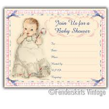 vintage owl baby shower invitations baby shower invitations vintage vintage retro 1950s baby