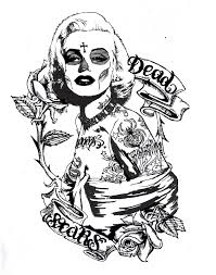 gangsta coloring pages marilyn monroe coloring book with 64 original line drawings