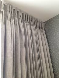 Pinch Pleated Lined Drapes Pinch Pleat Beige Linen Curtains With Blackout Lining Pinch