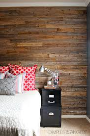 Wood Wall Covering by Dimples And Tangles Diy Wood Fence Plank Wall Tutorial