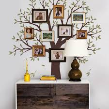family tree wall decal tree wall decal for picture frames narrow family tree decal two colors wall decals