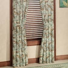 Standard Window Curtain Lengths Valerie Jacobean Floral Standard Length Window Treatment