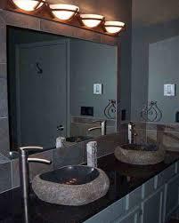 Overhead Vanity Lights Round Lighting Sconces Over Big Mirror For Bathroom Vanity Part