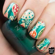 vintage ornaments nail by marisa cavanaugh nailpolis museum