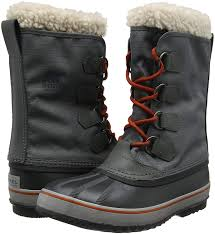 sorel men u0027s 1964 pac nylon snow boots grey dark fog shark 078