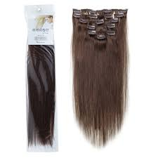 Price Of Hair Extensions In Salons by Amazon Com Emosa 4 18 U0027 U0027 7pcs 70g Remy Clips In Human Hair