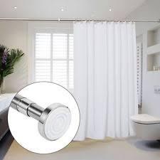 80cm Curtain Pole Straight Shower Curtain Rails Ebay