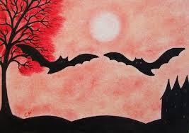 bat card halloween bats silhouette card bats tree card
