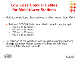 40 meters to feet contest antennas and coaxial cables by frank donovan w3lpl ppt