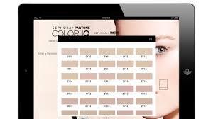 sephora pantone u201ccolor iq u201d knows your skin tone better than you