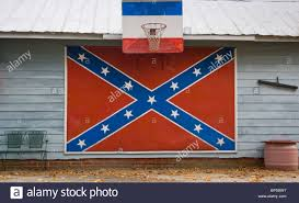 Giant Confederate Flag Confederate Flag On House In Bear Grass North Carolina Stock Photo