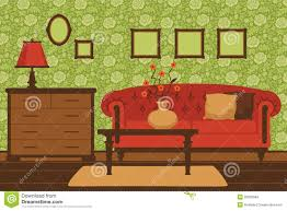Red Livingroom Classic Living Room Interior Stock Images Image 30320684