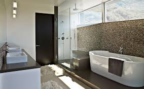 bathroom outstanding decor ideas wooden laminated full size bathroom stylish white acrylic free standing bathtub gray towel chrome faucet square