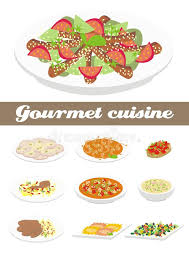 cuisine illustration gourmet cuisine illustration stock illustration illustration of